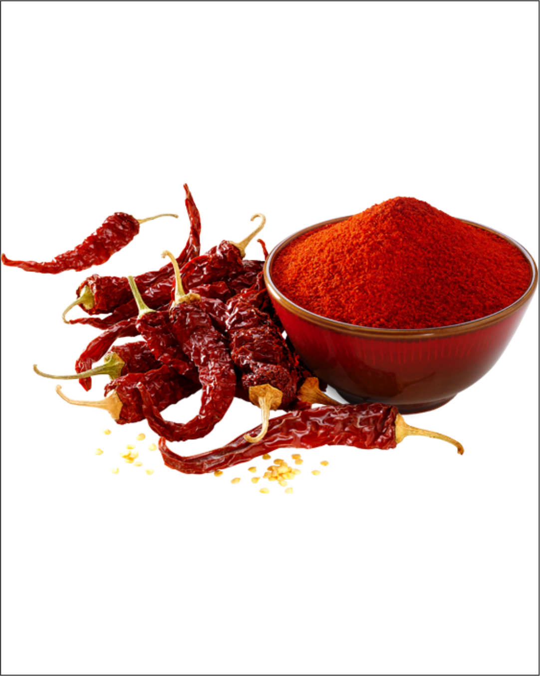dry red chilli and powder image