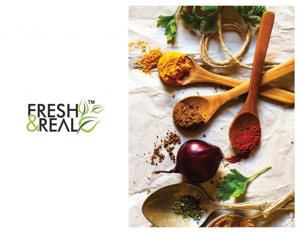 Organic herbs and spices banner