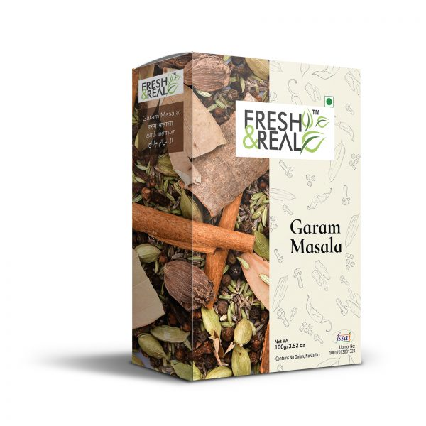 Garam masala powder in tetra pack